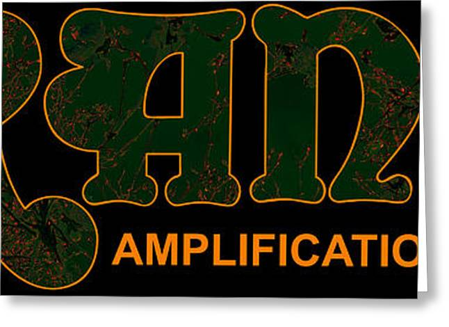 Orange Amplification Outline Only Greeting Card by Alexei Biryukoff