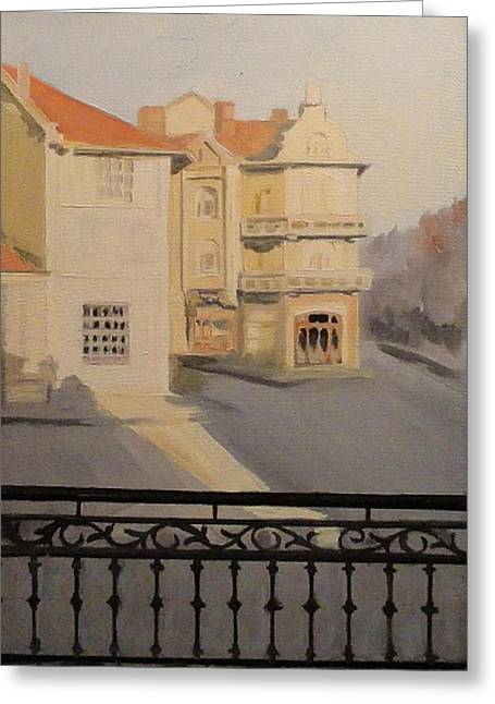 Ruse Greeting Cards - Original Oil  Painting Greeting Card by Angel Angelov