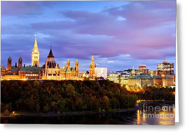 Ottawa Skyline Greeting Cards - Ottawa Greeting Card by Denis Tangney Jr