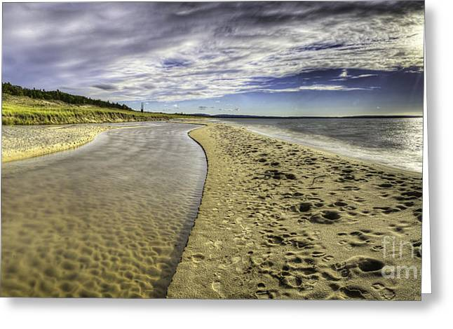 Oneida Greeting Cards - Otter Creek and Lake Michigan Greeting Card by Twenty Two North Photography