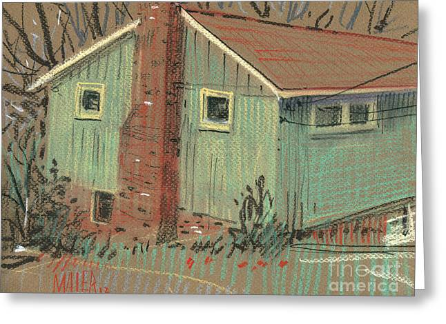 Homes Pastels Greeting Cards - Our House Greeting Card by Donald Maier