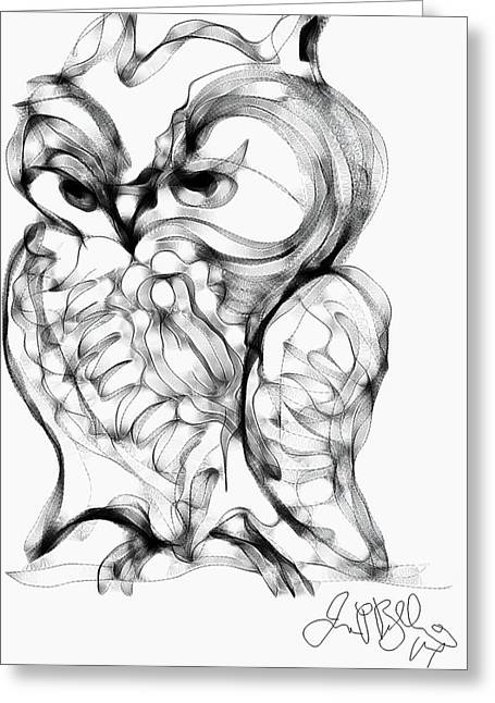 Different Owl Greeting Cards - Owl  Greeting Card by Jon Baldwin  Art