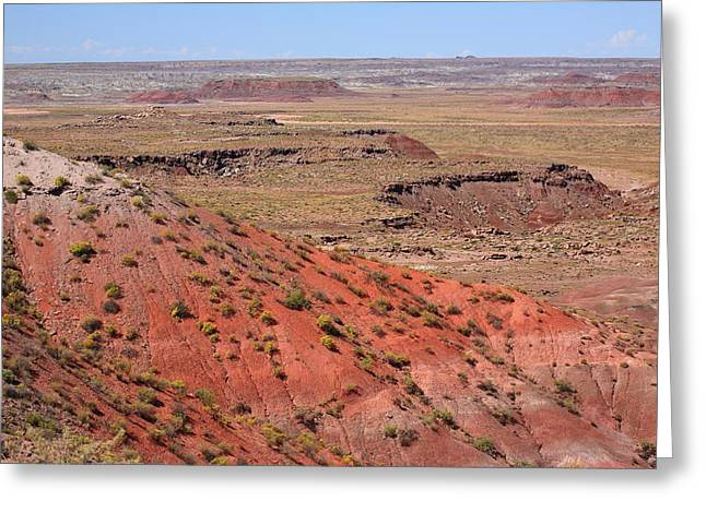 Pastel Mountains Prints Greeting Cards - Painted Desert Greeting Card by Frank Romeo