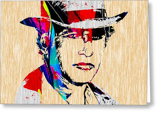 Kid Art Greeting Cards - Paul Newman Collection Greeting Card by Marvin Blaine
