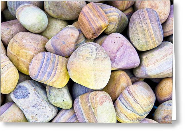 Numerous Greeting Cards - Pebbles Greeting Card by Tom Gowanlock