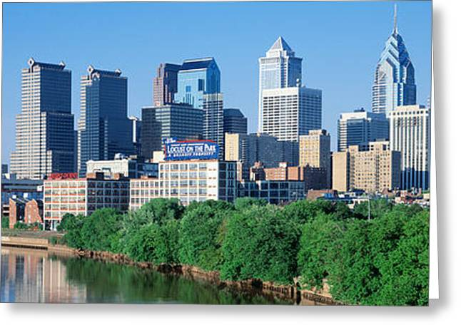 Pa.pennsylvania Greeting Cards - Philadelphia, Pennsylvania, Usa Greeting Card by Panoramic Images