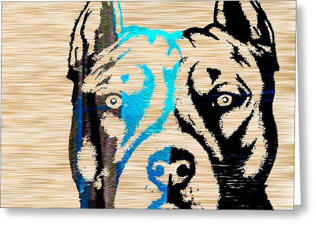 Bull Greeting Cards - Pitbull Greeting Card by Marvin Blaine
