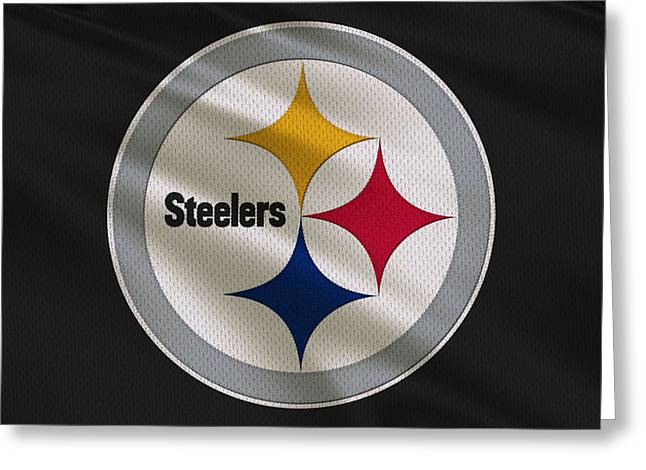 Steelers Photographs Greeting Cards - Pittsburgh Steelers Uniform Greeting Card by Joe Hamilton