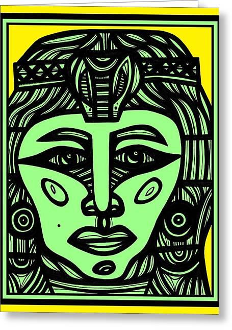 Pharaoh Drawings Greeting Cards - Pleasure in the Dreamer Greeting Card by Eddie Alfaro
