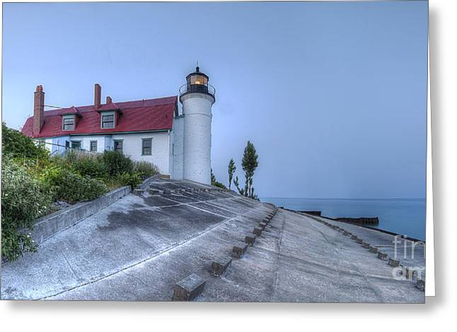 Point Betsie Lighthouse Greeting Card by Twenty Two North Photography