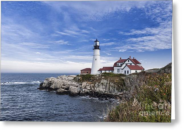 Keepers House Greeting Cards - Portland Head Lighthouse Greeting Card by John Greim