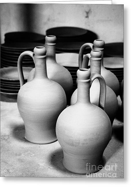 Pottery Pitcher Greeting Cards - Pottery Greeting Card by Gaspar Avila