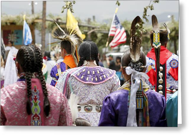 Pow Wow Greeting Card by Stellina Giannitsi
