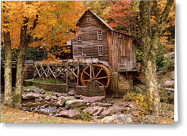 Grist Mill Greeting Cards - Power Station In A Forest, Glade Creek Greeting Card by Panoramic Images