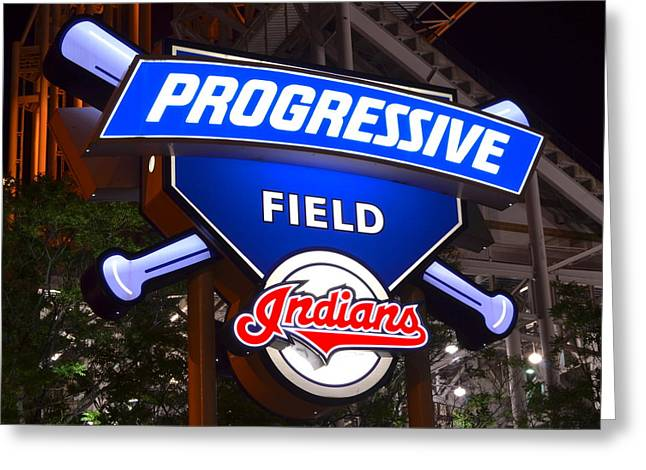 Rawhide Greeting Cards - Progressive Field Greeting Card by Frozen in Time Fine Art Photography