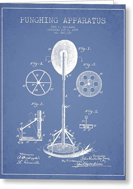 Punch Greeting Cards - Punching Apparatus Patent Drawing from1895 Greeting Card by Aged Pixel