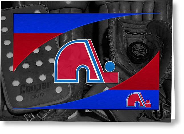Greeting Cards Greeting Cards - Quebec Nordiques Greeting Card by Joe Hamilton