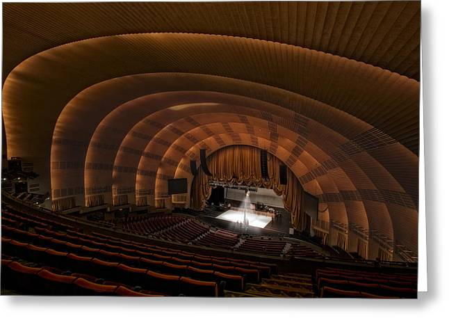 Iconic Radio Greeting Cards - Radio City Music Hall Theatre Greeting Card by Susan Candelario