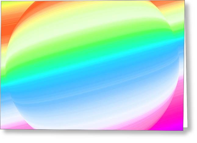 Abstract Style Greeting Cards - Rainbow colors of ball Greeting Card by Odon Czintos