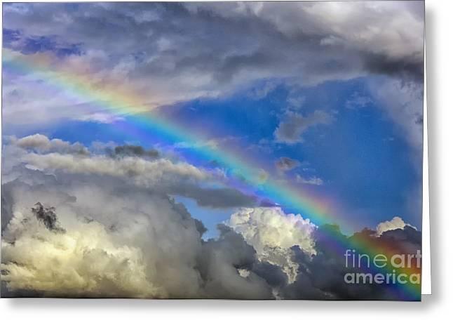 Appalachian Farm Greeting Cards - Rainbow in Clouds Greeting Card by Thomas R Fletcher