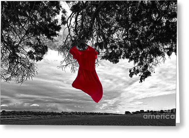 Outdoor Portrait Greeting Cards - Red Is My Color Greeting Card by Stylianos Kleanthous
