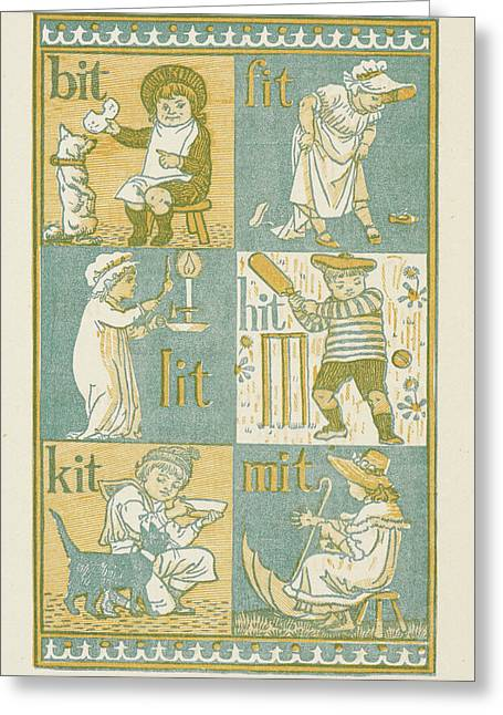 Rhyming Words Ending In The Letter T Greeting Card by British Library