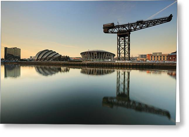Scotland Scenery Greeting Cards - River Clyde Reflections Greeting Card by Grant Glendinning