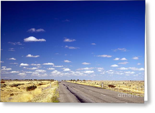 Road Ahead Greeting Card by Tim Hester