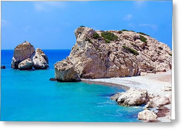 Petra Tou Romiou Greeting Cards - Rocks of Aphrodite Paphos Cyprus Greeting Card by Rostislav Ageev