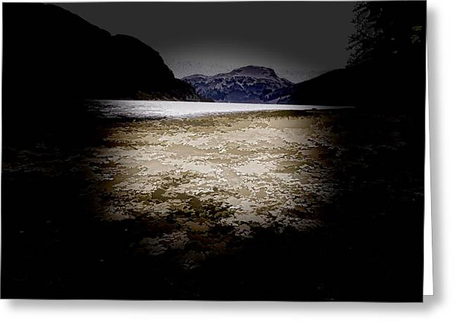 Tree Greeting Cards - Rocks on the shore of a Lock in the Scottish Highlands Greeting Card by Ashish Agarwal