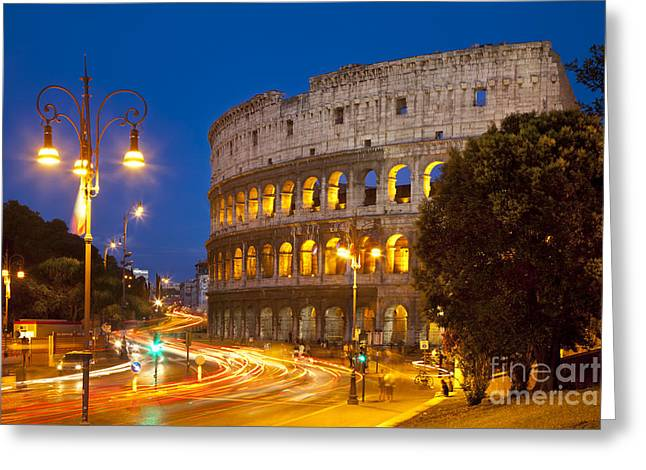Roman Streets Greeting Cards - Roman Coliseum Greeting Card by Brian Jannsen