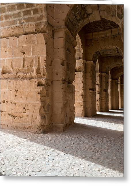 African Heritage Greeting Cards - Roman Stone Arches  Greeting Card by Chay Bewley