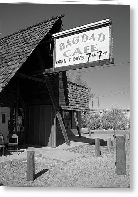 Best Sellers -  - Baghdad Prints Greeting Cards - Route 66 - Bagdad Cafe Greeting Card by Frank Romeo