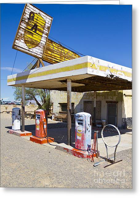 Vintage Greeting Cards - Route 66 Highway Signs Motels Gas Stations and Art Deco Architec Greeting Card by ELITE IMAGE photography By Chad McDermott