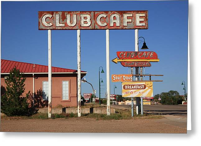 Streetlight Greeting Cards - Route 66 - Santa Rosa New Mexico Greeting Card by Frank Romeo