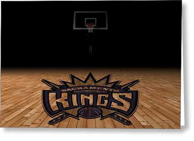 Dunk Greeting Cards - Sacramento Kings Greeting Card by Joe Hamilton