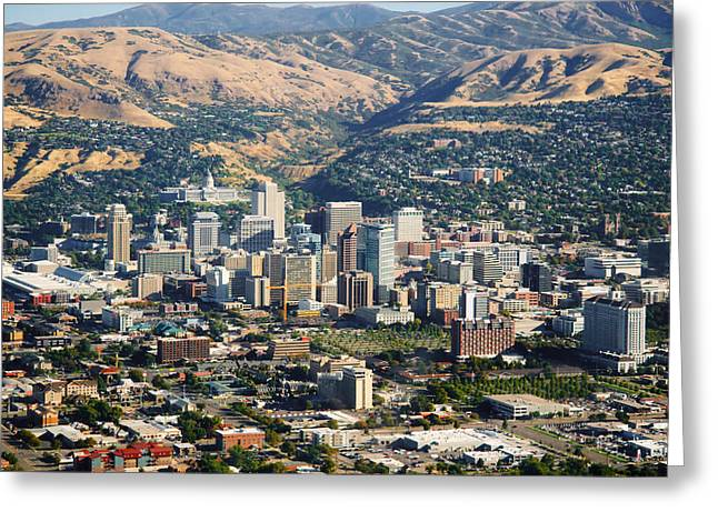 Salt Lake City Temple Greeting Cards - Salt Lake City Utah USA Greeting Card by Utah Images