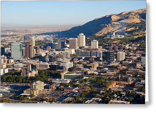 Mormon Tabernacle Greeting Cards - Salt Lake City Utah Greeting Card by Utah Images