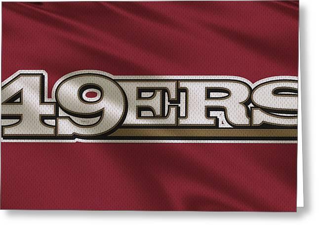 49ers Greeting Cards - San Francisco 49ers Uniform Greeting Card by Joe Hamilton