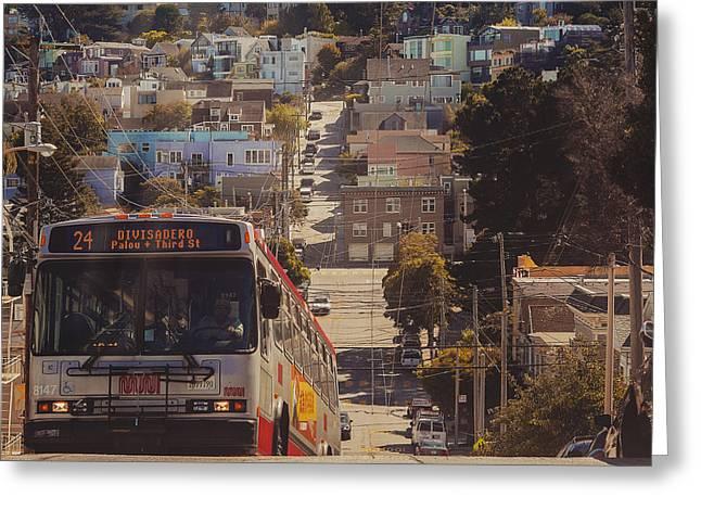 San Francisco Bay Mixed Media Greeting Cards - San Francisco  Greeting Card by Kenny Noddin