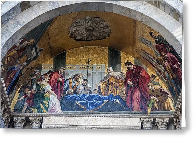 Religious Images Greeting Cards - San Marco Basilica. Greeting Card by Fernando Barozza