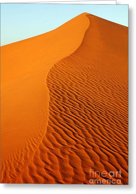 Sand Patterns Greeting Cards - Sand dunes of the Sahara Desert Greeting Card by Robert Preston