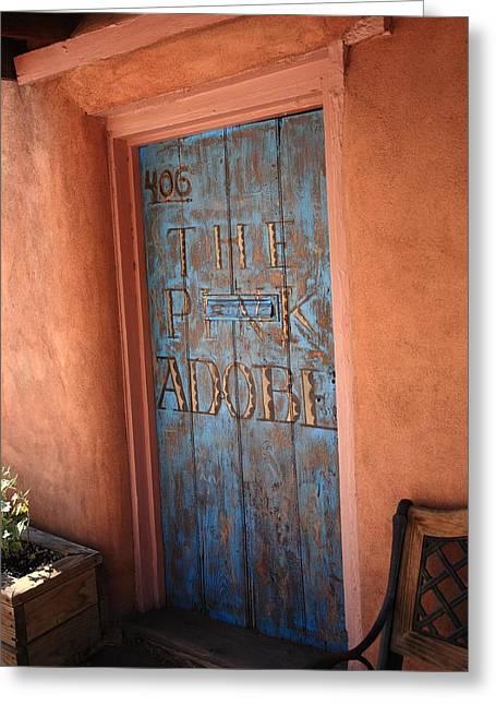 Adobe Greeting Cards - Santa Fe - Adobe Building Greeting Card by Frank Romeo