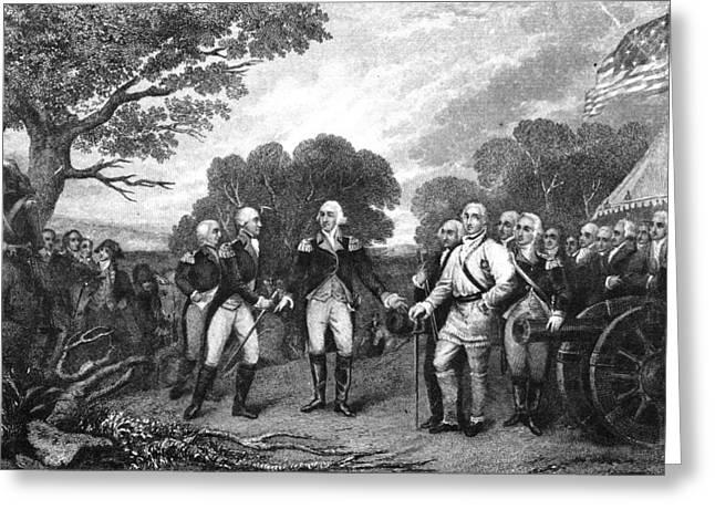 Burgoyne Greeting Cards - Saratoga: Surrender, 1777 Greeting Card by Granger