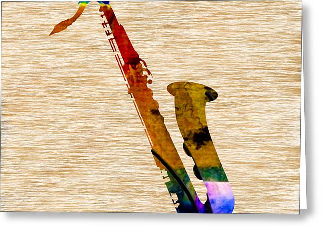 Sax Greeting Cards - Sax Greeting Card by Marvin Blaine
