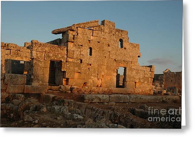 Ancient Ruins Greeting Cards - Serjilla, Syria Greeting Card by Catherine Ursillo