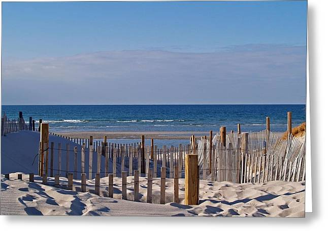 Mayflower Beach Greeting Cards - Shades of Blue Greeting Card by Mark Beliveau