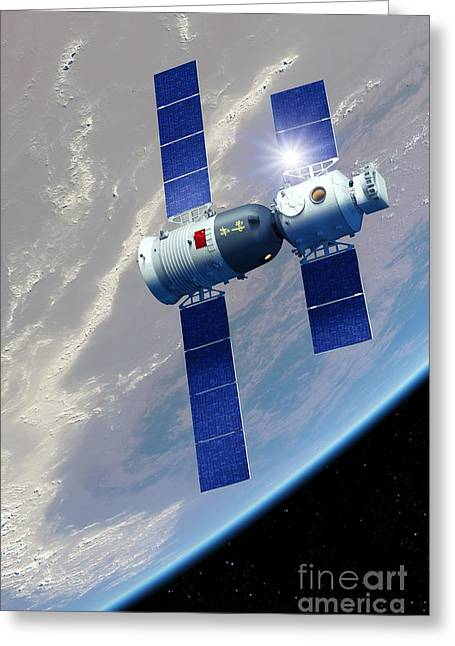 Yang Greeting Cards - Shenzhou 5 Spaceflight, Artwork Greeting Card by Detlev van Ravenswaay