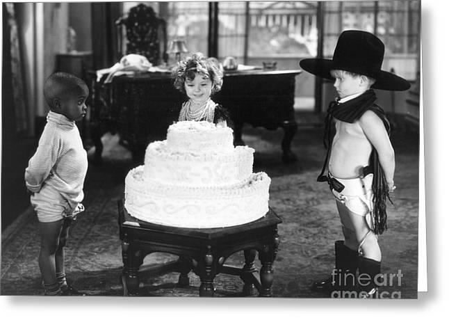 Diaper Greeting Cards - Shirley Temple and Gang Greeting Card by MMG Archives