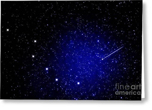 Meteor Digital Art Greeting Cards - Shooting Star and Big Dipper Greeting Card by Thomas R Fletcher